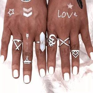Jewelry - 6 Boho Indie Rings